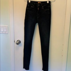 MOTHER skinny high rise jeans the looker